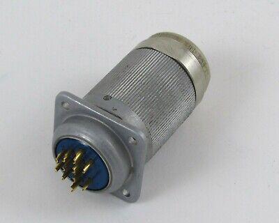 Amphenol Mated Pair Connectors 165-17 St Plug 165-20 Square Flange Receptacle