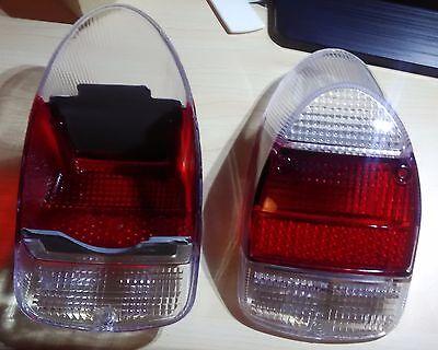 VW Beetle BUG Pair 2pcs EURO TAIL LIGHT LENS LENSES 1968-1970 White Red White