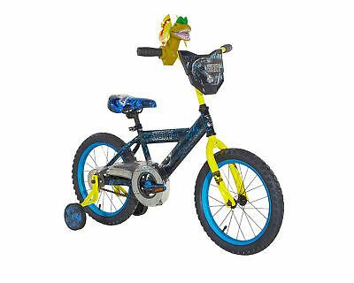 "16"" Kids Bike - Dynacraft, Jurassic World, Blue, with Training Wheels, Ages 4-8"