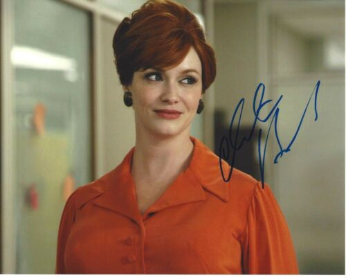SEXY ACTRESS CHRISTINA HENDRICKS SIGNED MAD MEN 8x10 PHOTO B W/COA JOAN HOLLOWAY