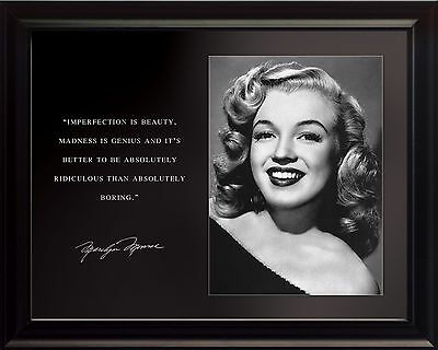 Marilyn Monroe Photo Picture, Poster or Framed Famous Quote