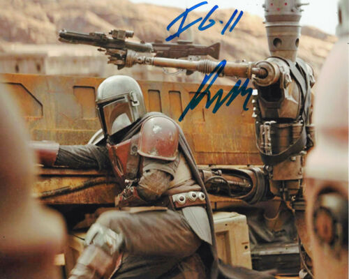 RIO HACKFORD SIGNED 'STAR WARS: THE MANDALORIAN' IG-11 8x10 PHOTO G w/COA PROOF