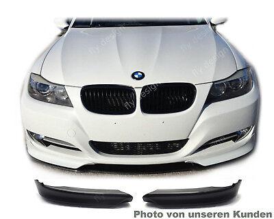 Paar Stoßstange Spoiler Splitter Flaps Schwarz für BMW E90 E91 M-Tech 2005-2008