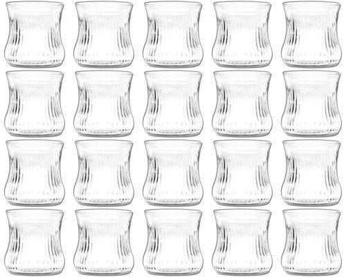 20 Stück Windlichter Windlichtgläser Windlicht Teelichtglas Teelichthalter Glas
