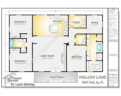 Will Lane Custom Home House Plan 1650 Sq Ft