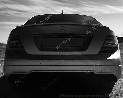 LACKIERTE Spoiler Mercedes C Klasse W204 Coupe Abrisskante Hecklippe Kofferraum