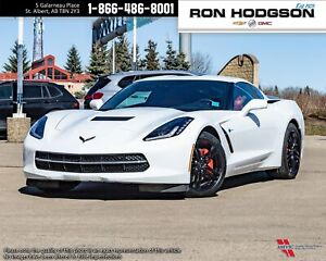 2017 Chevrolet Corvette 1LT ARTICWHITE ON RED MANUAL GT BUCKET S