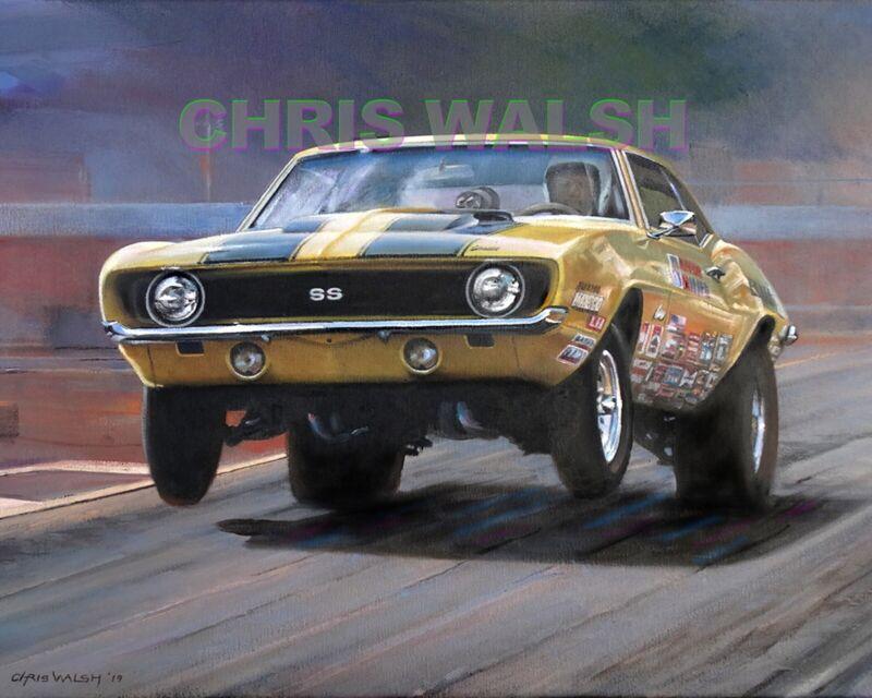 Drag Racing action prints...69 Camaro Super Stock