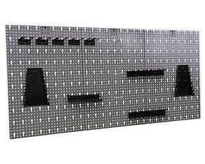 Werkzeugwand Lochwand mit Hakensortiment Werkstattwand Werkzeughalter Metall
