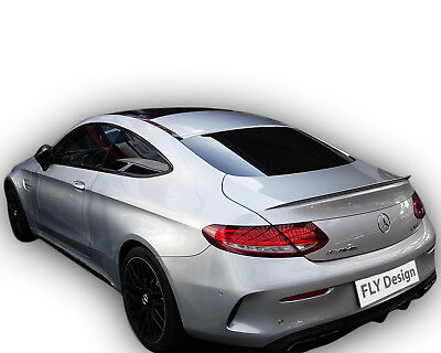 Mercedes Coupe C 205 AMG look body tuning mit slim spoiler SCHWARZ lackiert neu