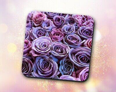Rose Coaster • Purple Blooming Beautiful Flowers Gift Decor Desk Accessory