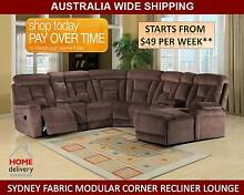SYDNEY FABRIC MODULAR CORNER RECLINER LOUNGE Brisbane City Brisbane North West Preview