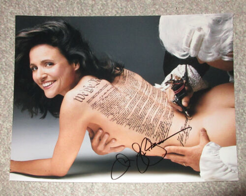 *TOPLESS* Julia Louis-Dreyfus Signed 11x14 Photo EXACT Proof COA Seinfeld Veep