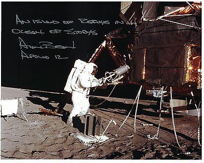 Alan Bean Apollo 12 Signed Kodak Color Lunar Surface Photo