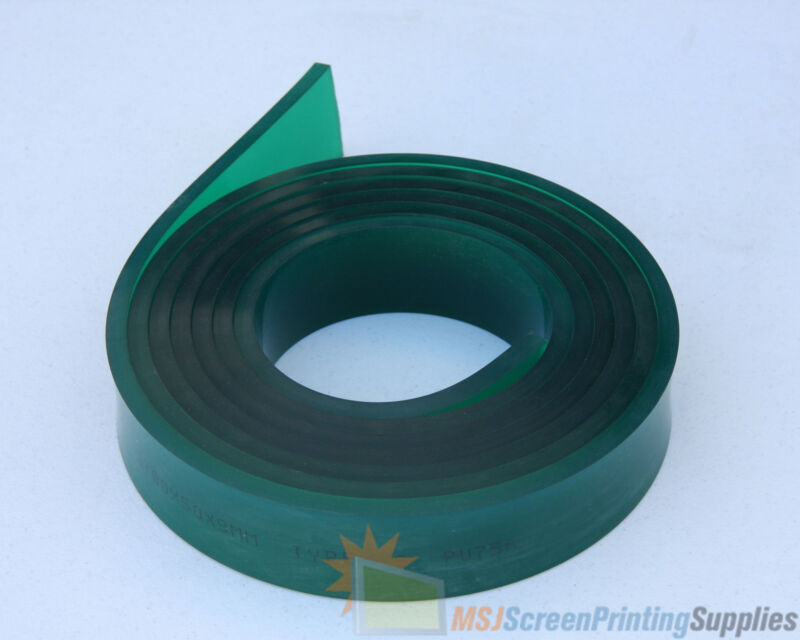 6 FT/Feet Roll - 70 Duro Durometer - Silk Screen Printing Squeegee Blade GREEN