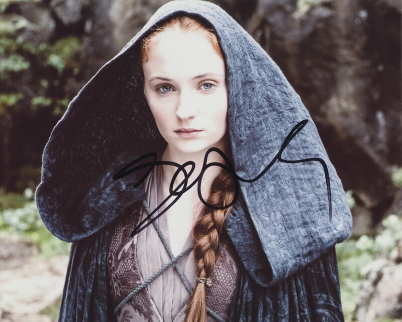 SOPHIE TURNER SIGNED GAME OF THRONES SANSA STARK 8X10 PHOTO 2