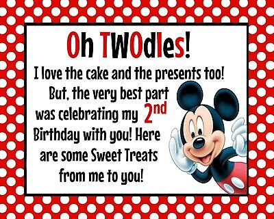 Oh Twodles Birthday (Disney Mickey Mouse STAND UP Oh TWOdles Birthday Sign 8.5x11 inches)
