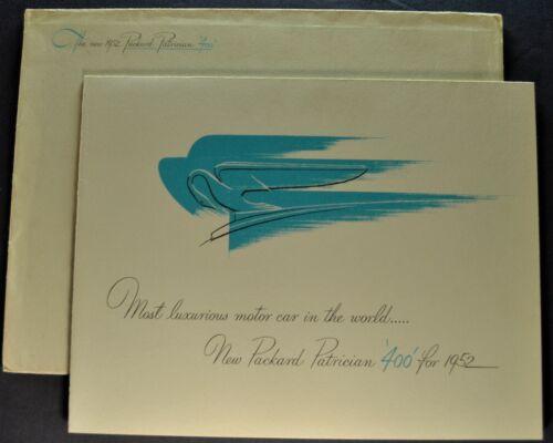 1952 Packard Patrician 400 Sedan Brochure Folder +Envelope Excellent Original 52