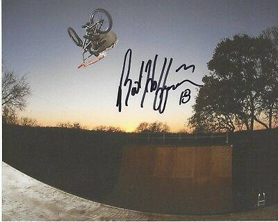 MAT HOFFMAN Signed 8 x 10 Photo BIKING X Games BMX FREE SHIPPING  for sale  USA