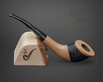 Madera Fumar Tabaco Tubo No.57 Cuerno Rústico Blanco Pera 17.8cm Párroco +...