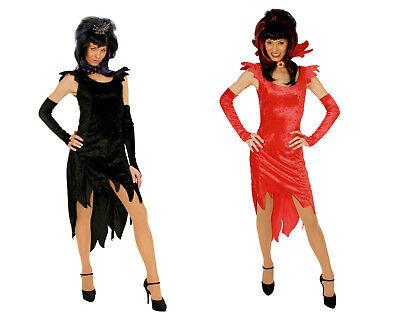 exkl 3lg Hexe Vampir Teufel Damen Mädchen Halloween Kostüm Gothic ink Handschuhe