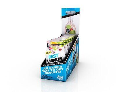 <NEW>BPI SPORTS BEST AMINOS LIQUID WATER ENHANCER 24servs 6 Bottles Zero