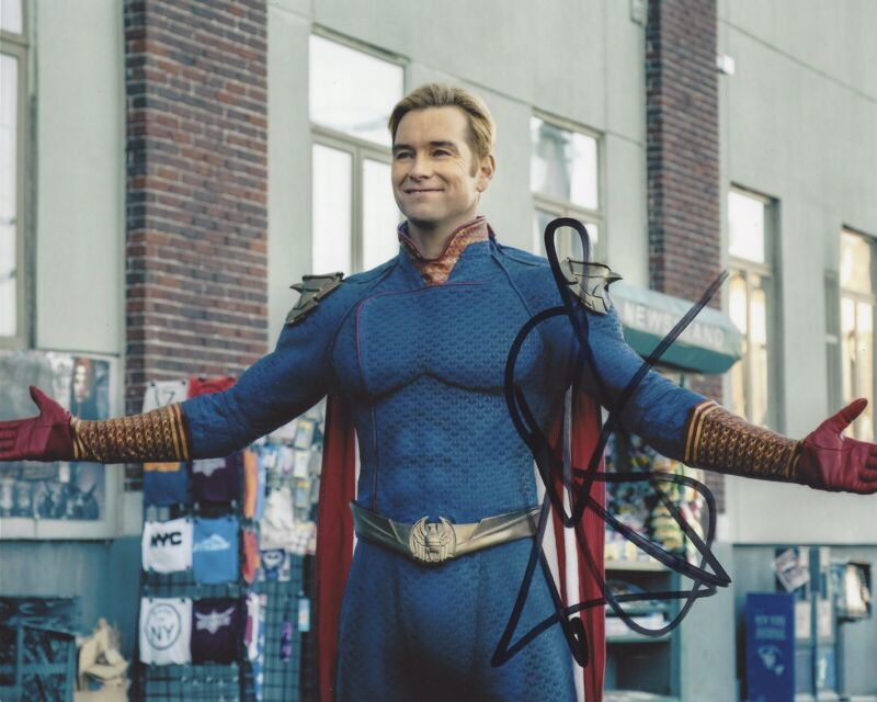 Antony Starr Signed Autographed 8x10 Photo - The Boys Homelander + EXACT PROOF G