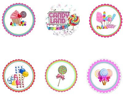 Candy Land Party (Candy Land Edible Party Image Cupcake Topper Frosting Icing Sheet)