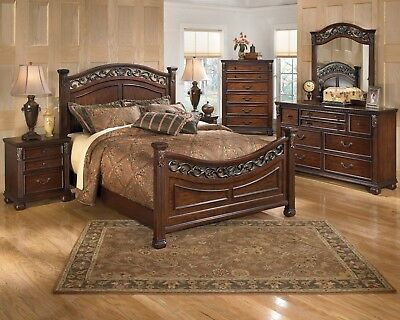 Ashley Furniture Leahlyn Queen Panel 6 Piece Bedroom Set