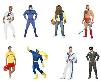 Men's 1980's TV Film Cartoon Fancy Dress Costume Ideas Stag Night Theme Party Do