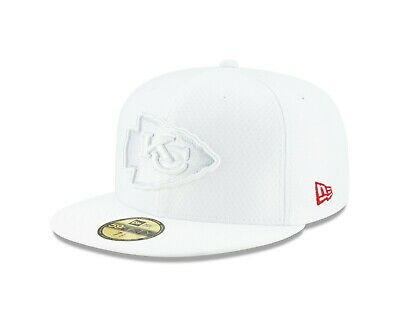 Kansas City Chiefs New Era 2019 NFL Sideline Platinum 59FIFTY Fitted Hat