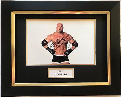 BILL GOLDBERG HAND SIGNED FRAMED PHOTO DISPLAY WWE.