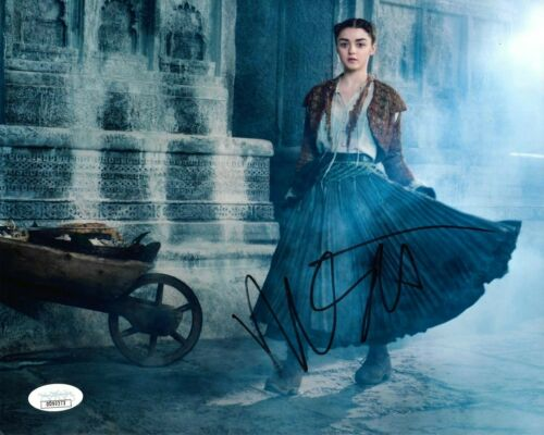 Maisie Williams Game of Thrones Autographed Signed 8x10 Photo JSA COA #9
