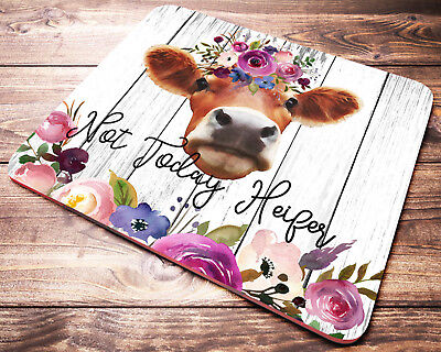 Cow Desk - FUNNY Quote Cow Mouse Pad Not Today Heifer Farm Animals Womens Desk Accessories