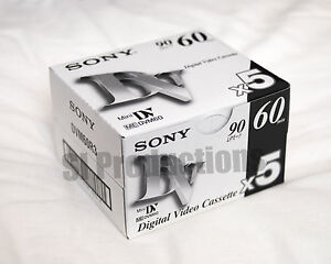 10x-Sony-DVM60-miniDV-Cassette-5DVM60R3-mini-DV-Tape-2x5packs-NEW