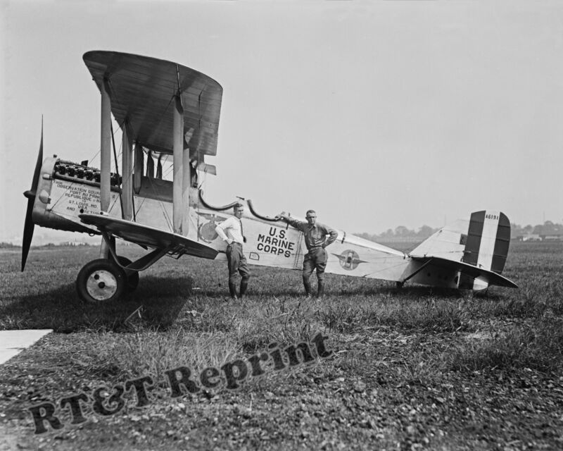 Historical Photograph of an USMC / Marines Observation Airplane Year 1923 11x14