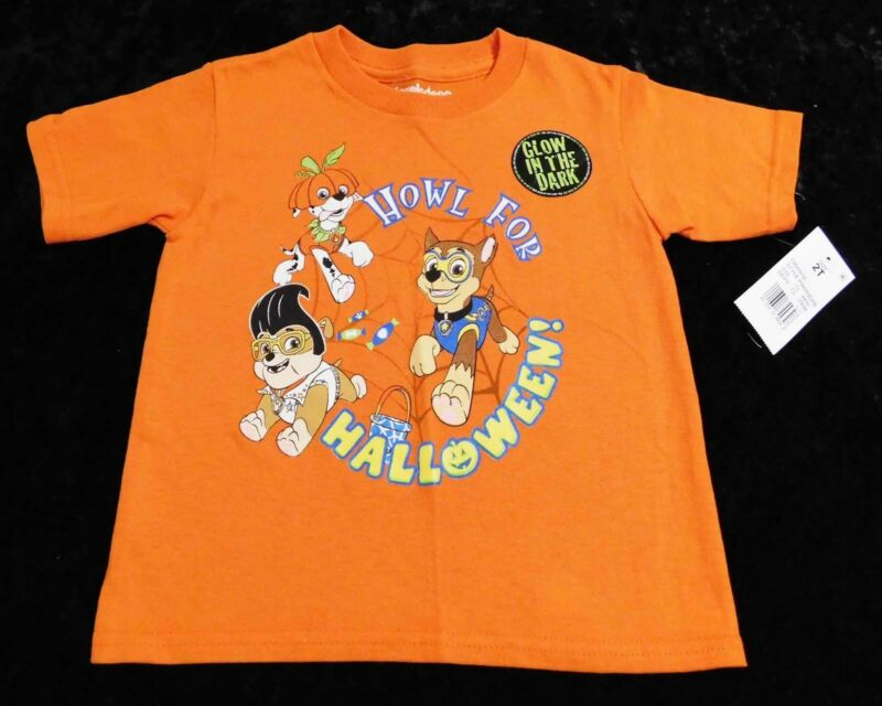 Paw Patrol Howl for Halloween Toddler Boys Short Sleeve Shirt (SIZE 2T, 3T, 4T)