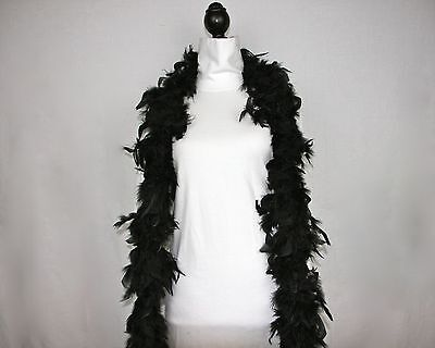 BLACK Feather Boas Wholesale Chandelle 6 Feet 60 grams Best Price on eBay - Feather Boa Black