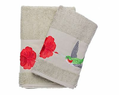 Ebru Bath & Hand Towel Set Turkish Best Quality %100 Cotton