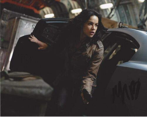 MICHELLE RODRIGUEZ SIGNED FAST AND THE FURIOUS 8X10 PHOTO 1 W/COA LETTY FIVE SIX
