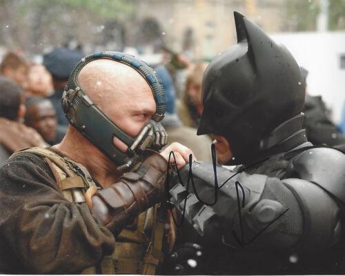 CHRISTIAN BALE SIGNED THE DARK KNIGHT RISES 8x10 PHOTO 1C w/COA BATMAN PROOF