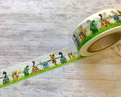 Kitty Cat Dog Puppy Kitten Washi Tape Papercraft Planner Supply Journal Party ](Kitty Cat Party Supplies)