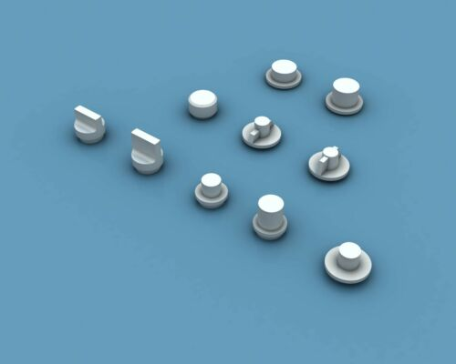 Anyz AN024 Dials & Knobs for 1/32 1/35 (200 pcs)