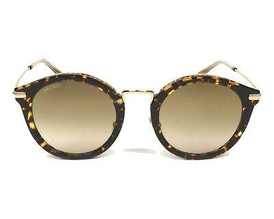 Jimmy Choo Bobby 086 Round Cat Eye Sunglasses Havana/Brown Gold Mirror NEW (Bobby Sunglasses)