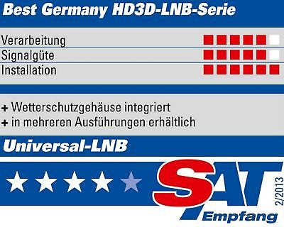 LNB QUAD 0,1dB DIGITAL BEST Germany Quattro Switch 4 Teilnehmer HDTV 4K Ultra HD