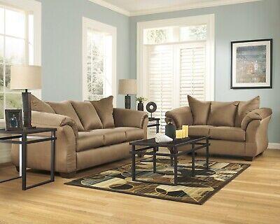 Ashley Furniture Darcy Mocha Sofa and Loveseat Living Room Set