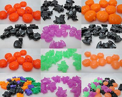 Halloween Mm (40 Halloween 25mm Pony beads - Pumpkins, Bats, Cats or)