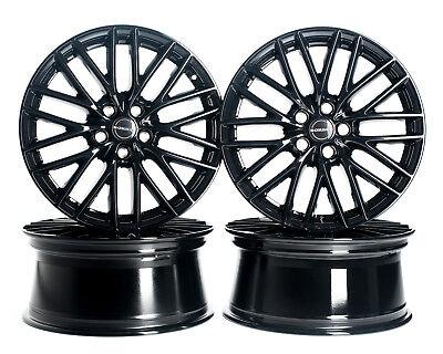 BORBET BS5 Felgen Black Glossy | Schwarz Glanz 8x18 Zoll ET50 5x112 Audi VW Golf