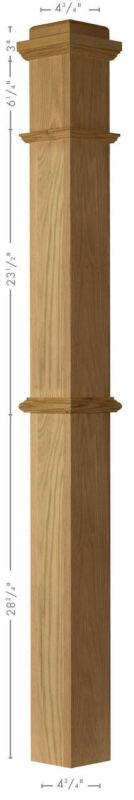 4375 Red Oak Box Newel Post