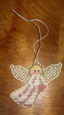 New Angel Heart Christmas Ornament Handmade Finished Glass Beads Mill Hill